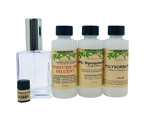 Perfume Studio Fragrance Making Kit use to make your own perfumes, colognes, air fresheners and body mist sprays; 5 Pcs.