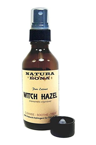 Witch Hazel Spray Extract; by Natura Bona; 2 Ounce Amber Glass Aromatherapy Spray Bottle.