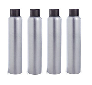 4oz Aluminum Bottles 4-Pack with Black Cap. Choice of Different Choice of Tops & Free Perfume Studio Sample Fragrance (4oz, Black Cap)