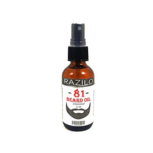 RAZILO 81 Unscented Beard Spray Oil for Men. Leave-in Beard & Mustache Conditioner Made from Natural Premium Essential Oils to Promote Healthy Facial Hair Growth & Softer Face Skin, 2.1oz Spray Bottle