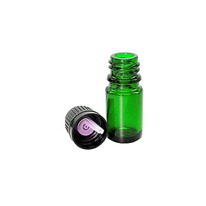 10ml Euro Dropper Bottle - Perfume Studio 3 Unit Pack of Empty Green Glass European Style Droppers