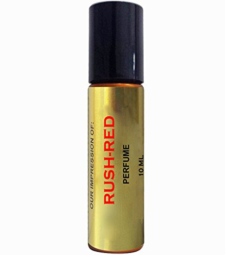 Perfume Studio Oil IMPRESSION of Rush Red for Women; 10ml Roll On Glass Bottle, 100% Pure Undiluted, No Alcohol Parfum (Premium Quality Fragrance Version)