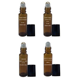 Oud Perfume Oil - 4 Piece Variety Set of Our Top Selling Pure Oud Rollon Type Parfum Oils