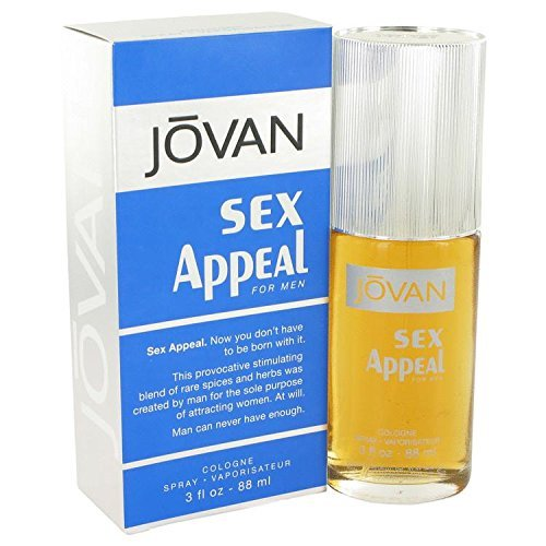 JOVAN SEX APPEAL by Jovan COLOGNE SPRAY 3 OZ for MEN
