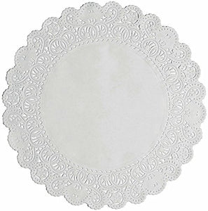 "Round Disposable White Paper Lace Doilies; Choose Quantity and Size of 6"", 8"", 10"", 12"" (12, 8 Inches)"