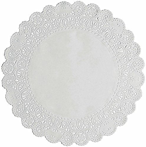 Round Disposable White Paper Lace Doilies; Choose Quantity and Size of 6