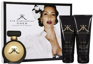 Kim Kardashian Gold 3Pc Set [3.4 oz. Eau De Parfum Spray+3.4 B.L.+3.4 Oz. Creamy Body Wash] Women