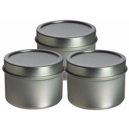 3 Pcs, Tin Deep High Quality Container 2 Oz with Cover - Use for Spices, Herb...