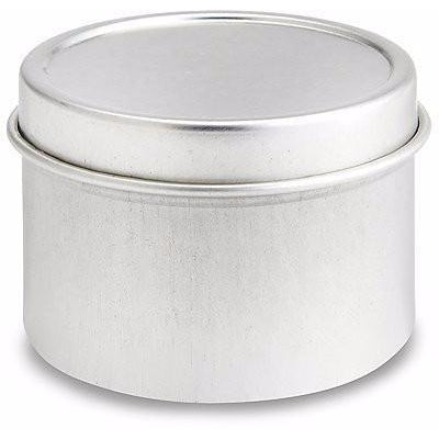 2 oz. Deep Metal Tins - Solid Lid