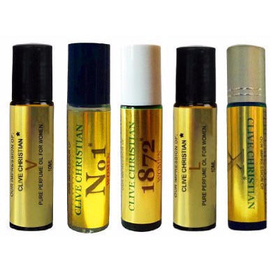 5 Piece Roll On Set of Clive_Christian* IMPRESSION Perfume Oils for Women.