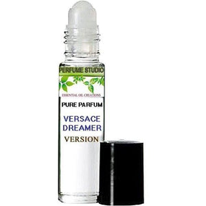 Premium Custom Perfume Blend - Version of Versace Dreamer in 10ml Clear Roller Bottle