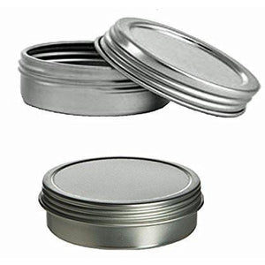 Cafe Cubano? Set of Food Grade Tin Containers with Screw Top Lids - 2 Oz, Fla...