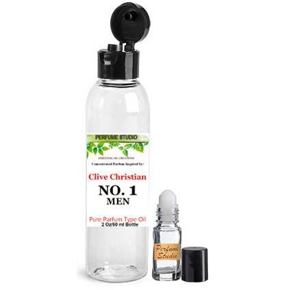 Wholesale Premium Perfume Oil  Inspired by Clive Christian No. 1* Perfume for Men in a 2oz Bottle with a free empty 5ml glass roller bottle