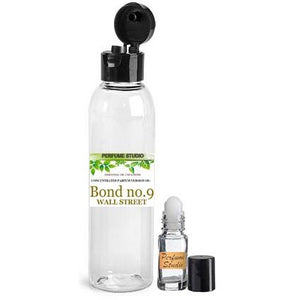 Wholesale Bond No. 9 Wall Street Inspired Premium Perfume Oil in a 2 Oz Snap Cap Plastic Bottle & Free 5 ML Roller Bottle to Use with Your Personal Oil