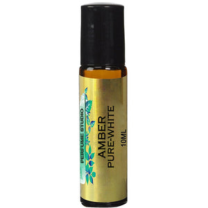 Amber Pure-White Perfume Oil - 100% Pure Premium Quality Perfume Oil (10ML ROLLER BOTTLE)