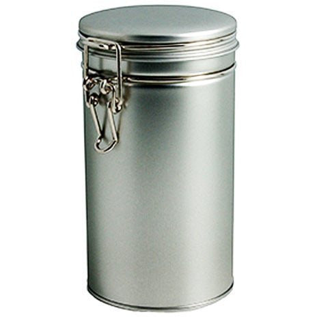 "Cafe Cubano? Tin Container with sealed Latch - Food Storage Quality 6.5"" High..."