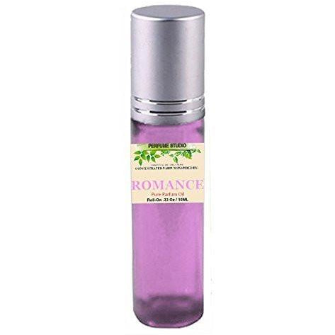 Premium Perfume Oil Inspired by Romance Perfume for Women, 10ml Purple Glass Roll on, Silver Cap