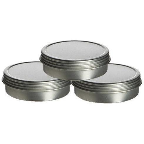 1/2 oz Shallow Screw Top Tin Can. Great for Storing Small Food Items, Condiments and More