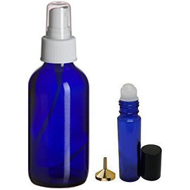 Perfume Studio Essential Oil Set (3, 4 Oz. Blue Cobalt Spray Bottles - 6, 10...