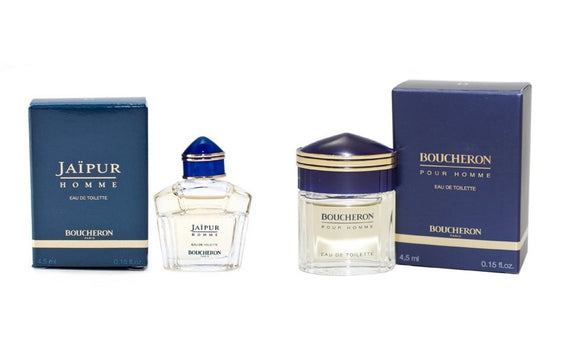 Boucheron for Men 2 Piece Mini Set (Jaipur & Boucheron; 0.15oz each Splash On)