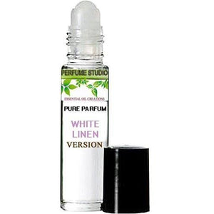 Premium Custom Perfume Blend - Version of White Linen in a Clear Roller Bottle