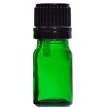 10ml Dropper Bottle - 6 Unit Pack of Empty Green Glass European Style Droppers to with Essential OIls and Personal Body Oils