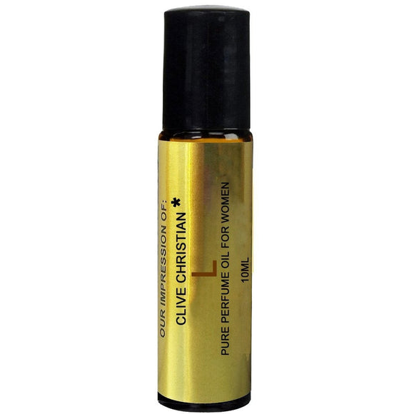 Superior IMPRESSION of *Clive_Christian L For Women, 100% Pure, No Alcohol Top grade Parfum Oil,  (10ML ROLLER BOTTLE)