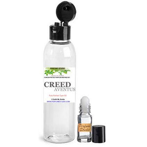 Wholesale Premium Perfume Oil Inspired by Creed Aventus* Cologne in a 2 Oz Snap Cap Plastic Bottle & Free 5 ML Roller Bottle to Use with Your Personal Oil