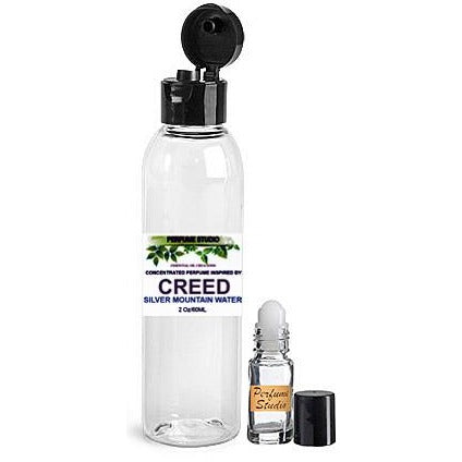 Wholesale Premium Perfume Oil  Inspired by Creed Silver Mountain Water* Perfume in a 2oz Bottle with a free empty 5ml glass roller bottle