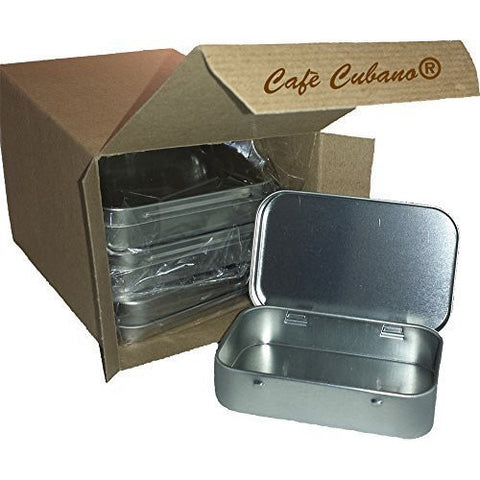 Rectangular Empty Hinged Tins. Set of 8 Pieces: Great For Pocket First Aid Kit