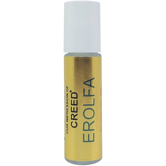 Perfume Oil IMPRESSION with SIMILAR Accords to: -{*CREED EROLFA}*_MEN*; 100% Pure No Alcohol; 10ml Roll-on