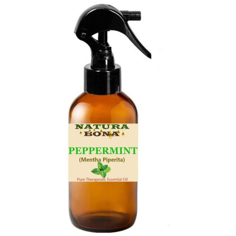 Peppermint Oil. PURE PEPPERMINT THERAPEUTIC GRADE. Repel Ants, Spiders, Mice, Mosquitoes, & Scorpions. Helps with digestive problems, fevers, respiratory symptoms, headaches, stress and pain. (4oz Dropper Bottle/Trigger Sprayer)
