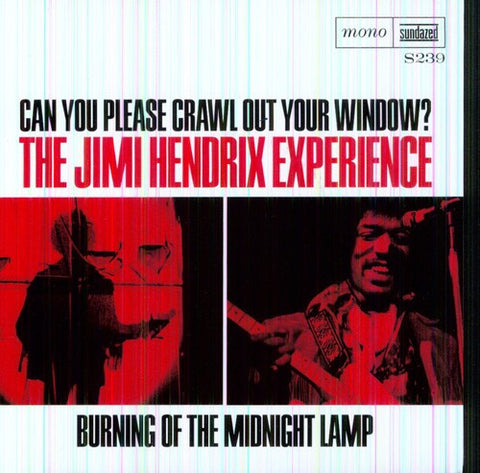 "Jimi Hendrix - Can You Please Crawl Out Your Window - Burning Of The Midnight Lamp on Mono 7"" Vinyl"