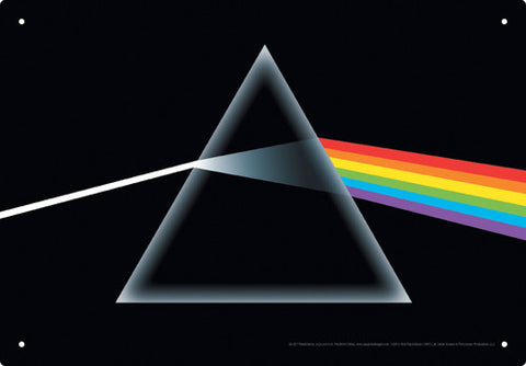 Pink Floyd - Dark Side of the Moon Tin Sign - direct audio