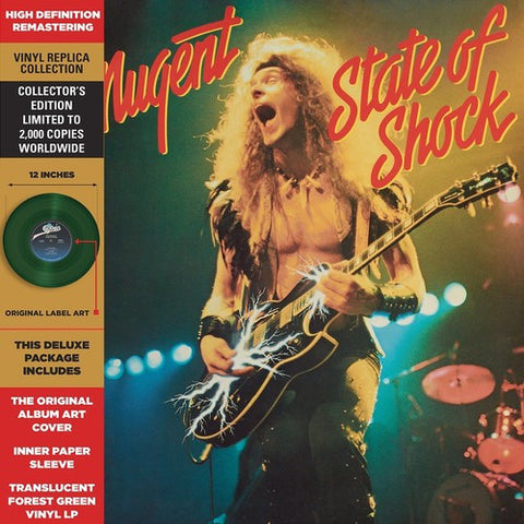 Ted Nugent - State of Shock on Limited Edition Colored 150g Vinyl LP - direct audio