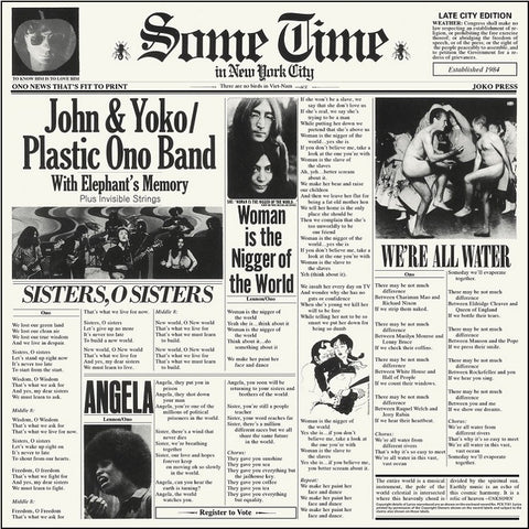 John Lennon - Some Time In New York City on 180g 2LP - direct audio