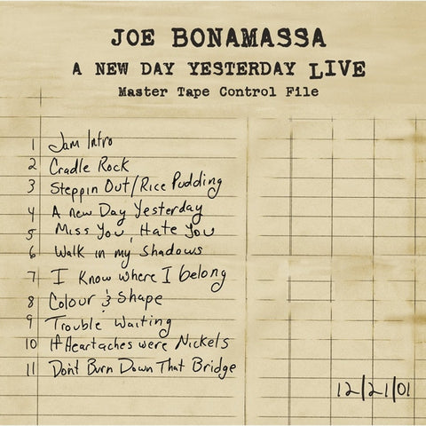 Joe Bonamassa - A New Day Yesterday Live on Limited Edition Import 180g 2LP - direct audio