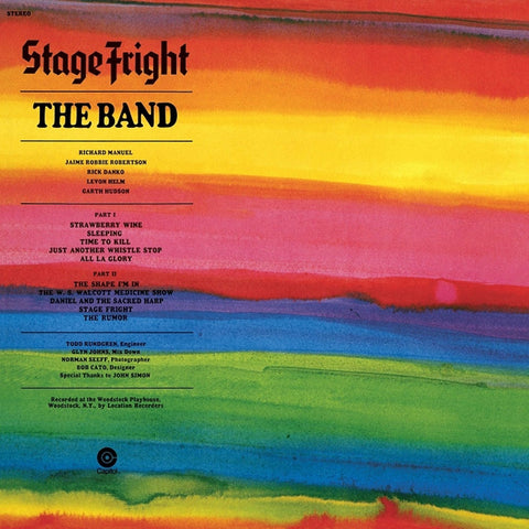 The Band - Stage Fright on 180g LP - direct audio
