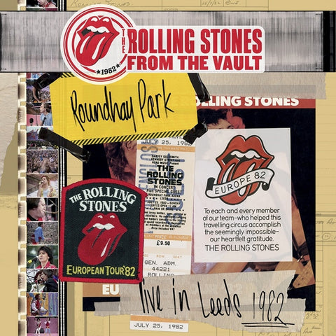 The Rolling Stones - From The Vault: Live In Leeds 1982 on Limited Edition 3LP + DVD - direct audio