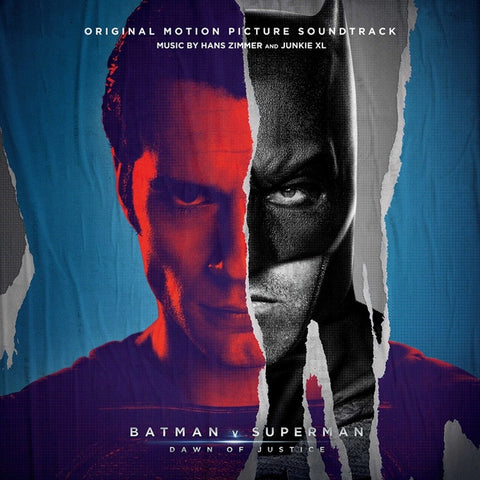 Hans Zimmer And Junkie XL - Batman V Superman: Dawn Of Justice Original Motion Picture Soundtrack on Numbered Limited Edition Colored 3LP w/ Etching + Poster + Download - direct audio