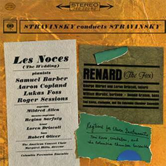 Stravinsky - Les Noces Renard Ragtime For Eleven Instruments on 180g Import LP - direct audio