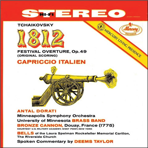 Tchaikovsky: 1812 Overture And Capriccio Italien - Dorati - Taylor - Minneapolis Symphony Orchestra 180g Vinyl 2LP - direct audio