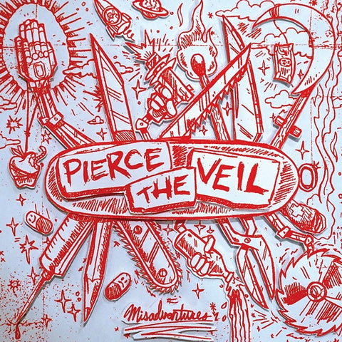 Pierce The Veil - Misadventures on Colored LP + Download - direct audio
