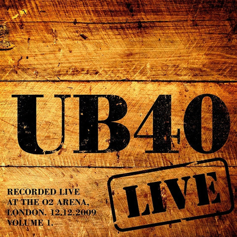 UB40 - Live In 2009: Volume 1 on Limited Edition Colored Vinyl 2LP - direct audio
