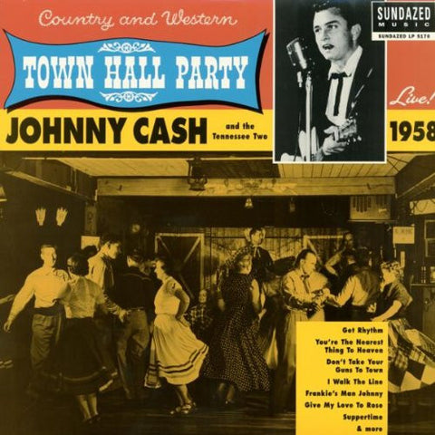 Johnny Cash - Town Hall Party 1958 on LP - direct audio