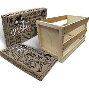 Crate Farm Stackable Wooden 100-LP Storage Crate (Out Of Stock) Pre-order - direct audio