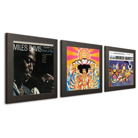 Art Vinyl - Play & Display Wall Mount LP Picture Frames (Set of 3) - direct audio