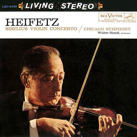 Sibelius - Violin Concerto - Heifetz - Hendl - Chicago Symphony Orchestra on Limited Edition 200g LP - direct audio