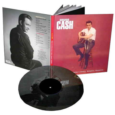 Johnny Cash - Unseen Cash on One-Sided 180g Import LP w/ B-Side Engraving + Book - direct audio