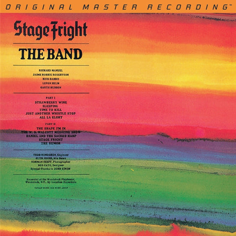 The Band - Stage Fright on Numbered Limited Edition Hybrid SACD from Mobile Fidelity - direct audio